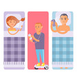 people and gadgets concept busy person smart vector image vector image