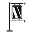 pillar city light icon simple style vector image vector image