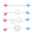 plane path from point to point in different vector image vector image