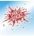 popcorn blast the inscription of exploding popcorn vector image