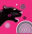 portrait a black panther vector image