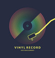 poster of the vinyl record on vector image vector image