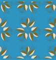 print on tropical theme pattern on a blue brown vector image