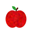red apple low poly icon fruit polygon symbol vector image