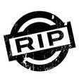 rip rubber stamp vector image vector image
