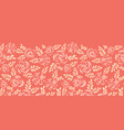 scandinavian flat roses seamless border red vector image