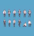 set businessmen in formal wear standing different vector image vector image