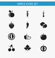 set of 12 editable cookware icons includes vector image vector image