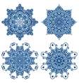 Set of mandalas in gzhel style Orient patterns vector image vector image