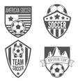 set of vintage soccer football labels emblem vector image