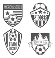 set vintage soccer football labels emblem and vector image