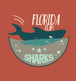 shark emblem vector image vector image
