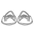 sketch - pair women ballet flats front view vector image vector image