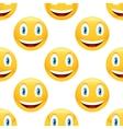 Smiling emoticon pattern vector image vector image