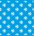 soccer pattern seamless blue vector image