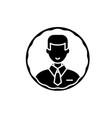 staff profile black icon sign on isolated vector image vector image