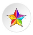Star in colours of LGBT icon cartoon style vector image vector image
