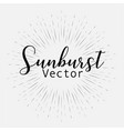 sunburst style isolated on white background vector image