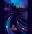 traffic shiny lines of the night city road effect vector image vector image