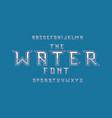 water font alphabet