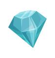 blue diamond cartoon vector image