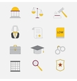 Law and justice icons The legal system vector image