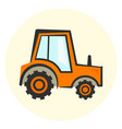 cute cartoon colorful tractor icon vector image