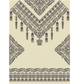 Design neckline sleeves and border in ethnic style vector image