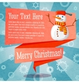 Merry Christmas cute retro banner on the craft vector image