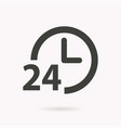 24 hour service icon vector image vector image