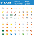 64icon football tournament trophy vector image