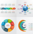 8 steps infographic templates business concept vector image vector image
