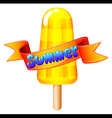 A refreshing icecream on stick for summer vector image vector image