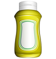 A yellow bottle vector image vector image
