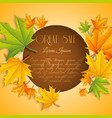 abstract autumn great sale poster vector image vector image