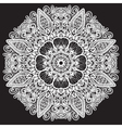 Abstract circle lace pattern vector image