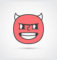 bad guy emoji face with big eyes eps10 vector image vector image
