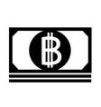 bitcoin icon design vector image