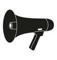 black and white megaphone silhouette vector image