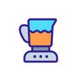 blender cocktail bowl icon outline vector image vector image