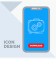 briefcase case production progress work line icon vector image