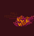 bright autumn pattern for for banner vector image vector image