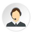 call center operator icon circle vector image vector image