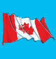 canadian artistic brush stroke waving flag vector image vector image