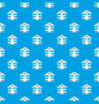 cat house pattern seamless blue vector image vector image