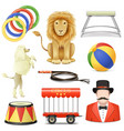 Circus Icons Set 3 vector image