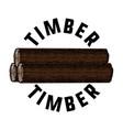 color vintage timber emblem vector image vector image