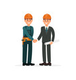 construction engineer or architect and foreman in vector image