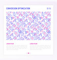 conversion optimization concept vector image vector image