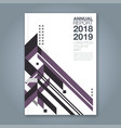 cover annual report 1069 vector image